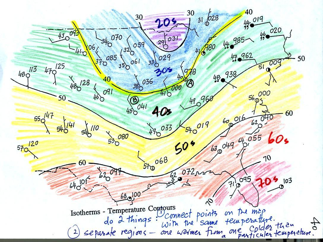 Worksheet Temperature Map