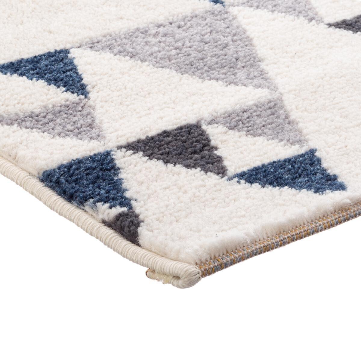 tapis ilan bleu et blanc 120x170 cm