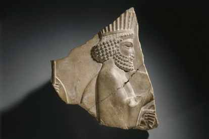Relief of Persian Guard, Persepolis Empire, Iran, Achaemenid Period by the Brooklyn Museum.