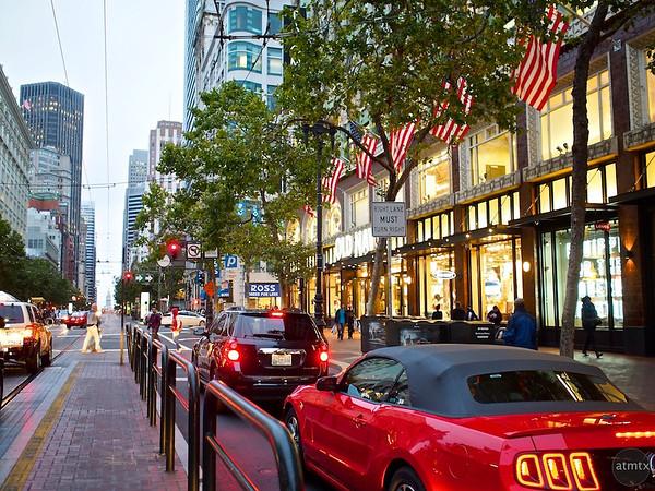 Lively Market Street - San Francisco, California
