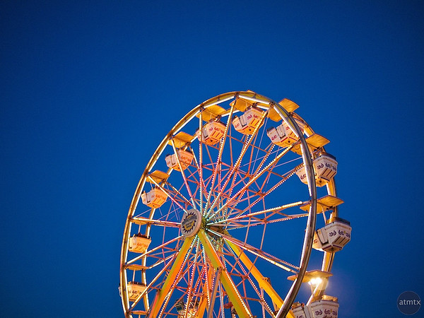 Ferris Wheel at Blue Hour, Parking Lot Carnival