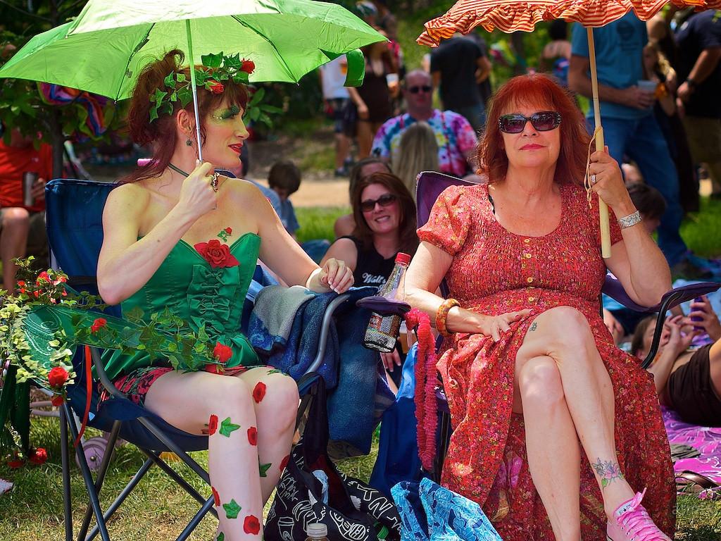 Sara and Lilly, Eeyore's Birthday Party - Austin, Texas