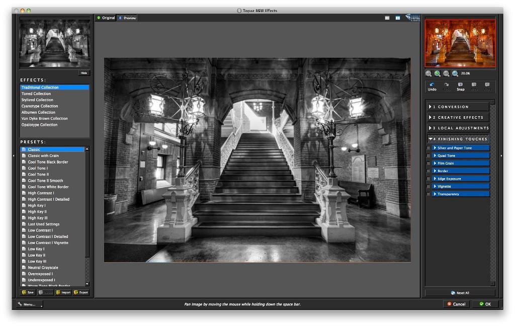 Topaz B&W Effects Screen Shot