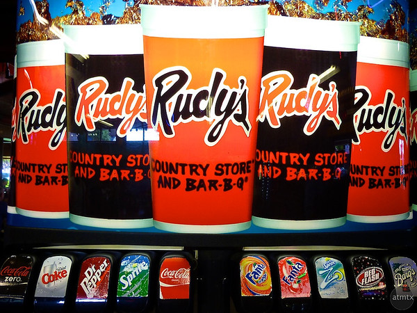 Soda Dispenser, Rudy's Bar-B-Q - Austin, Texas