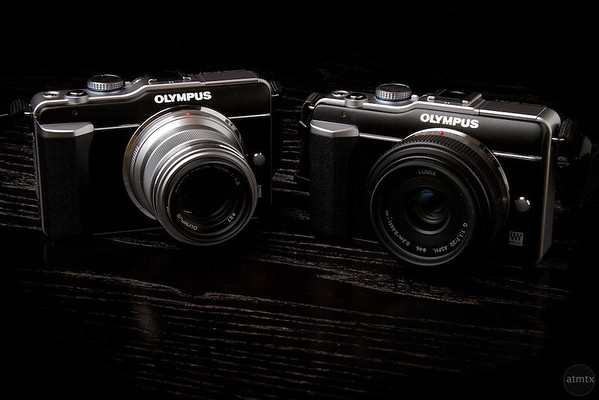 My two camera setup, Olympus E-PL1 with 45mm and 20mm