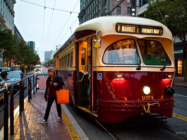 Getting Off, Market Street - San Francisco, California
