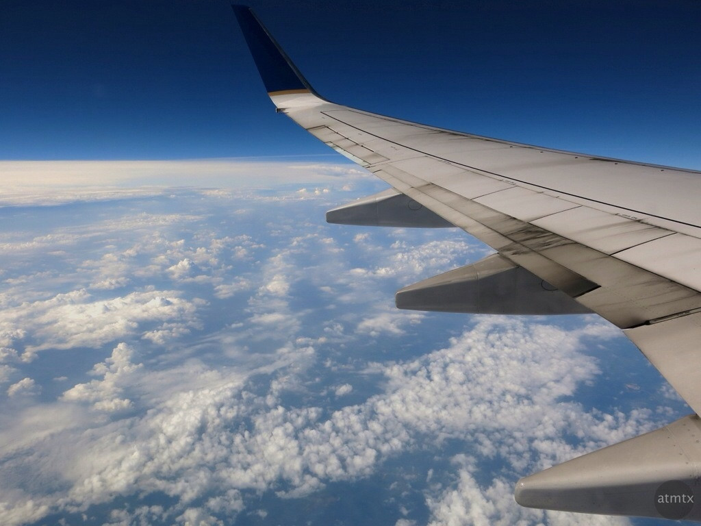 A great window view - at 30,000 feet