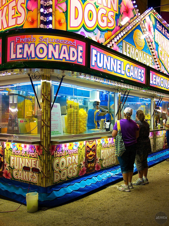 Colorful Food Stand, Rodeo Austin
