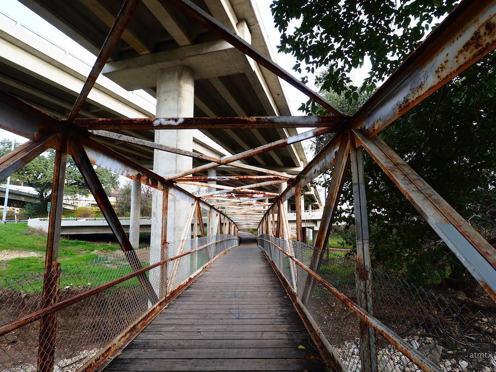 Rusted Pedestrian Bridge - Austin, Texas