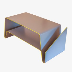 Le Point D Ludivine Bolo blanc table basse V aluminium epoxy