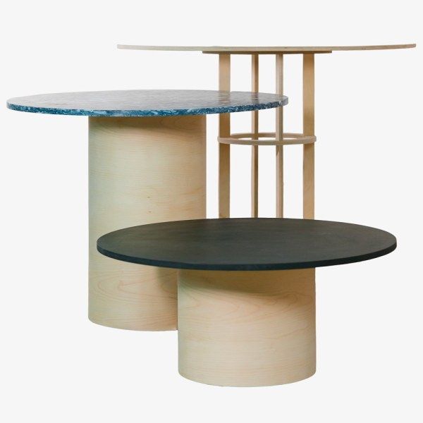 rinku table berlin bois plastique contemporain