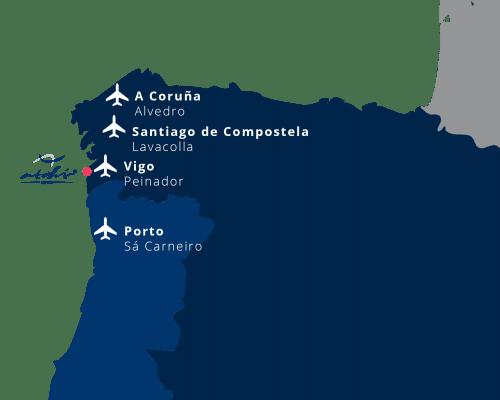 mapa aeropuertos