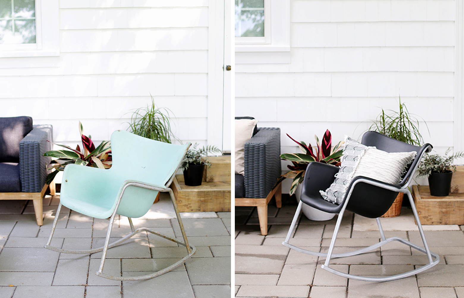 midcentury patio furniture makeover home