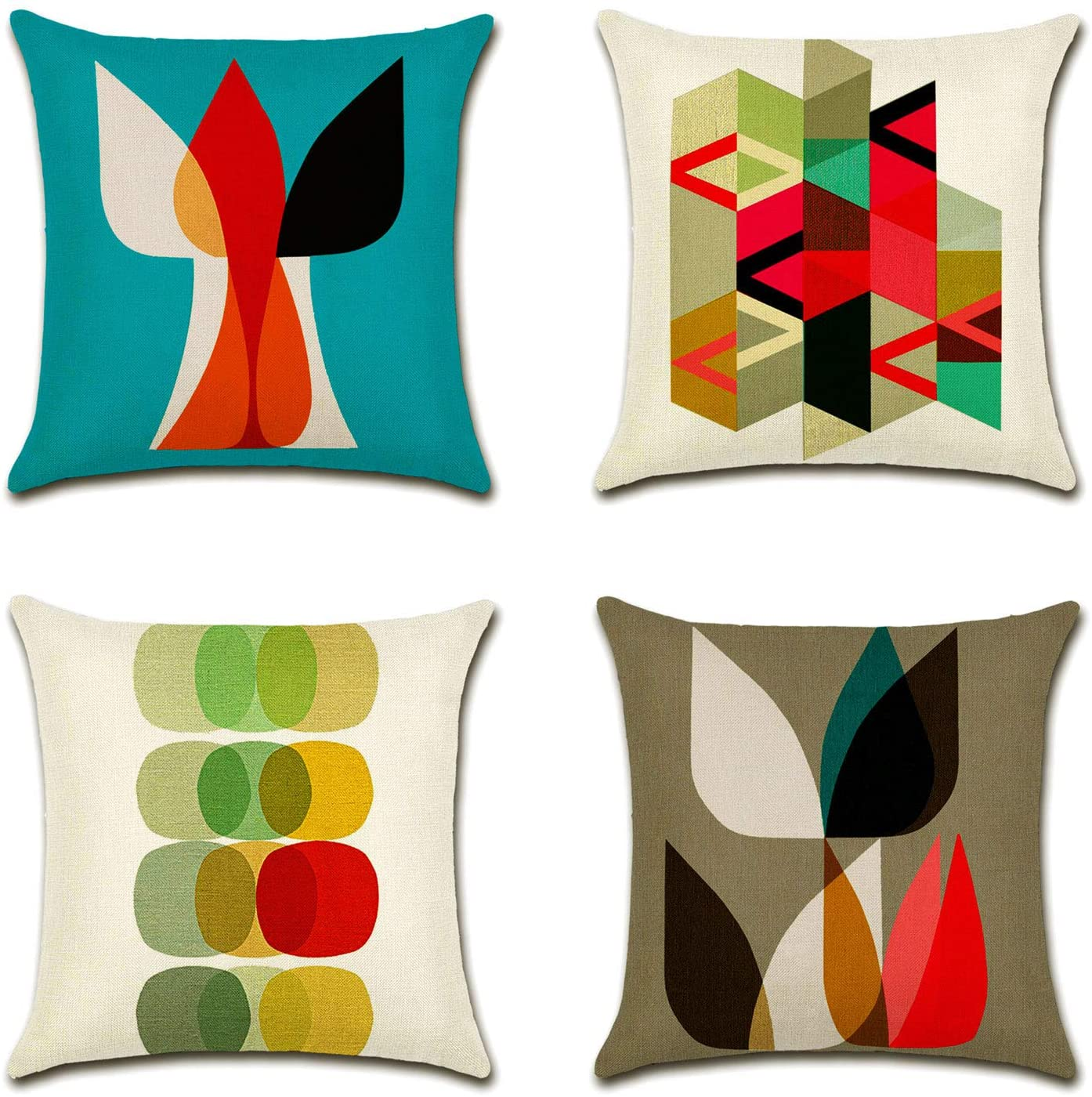 6 mid century modern throw pillows from