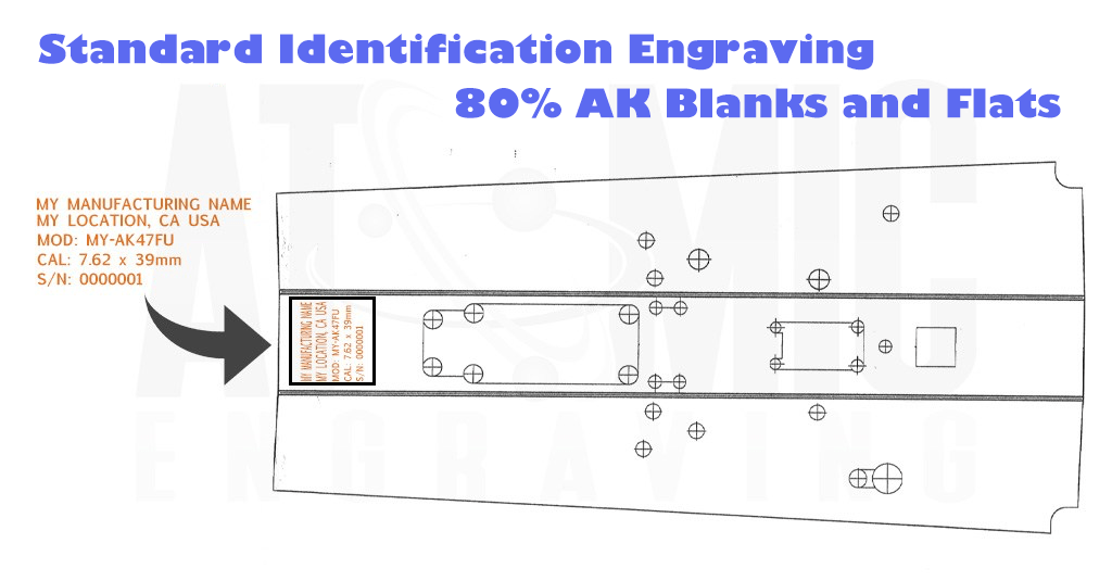 AK Engraving services for 80% flat or Blank