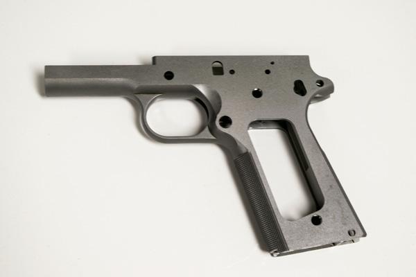 1911 80% CHECKERED FRAME STAINLESS - Atomic Engraving - Custom Laser ...