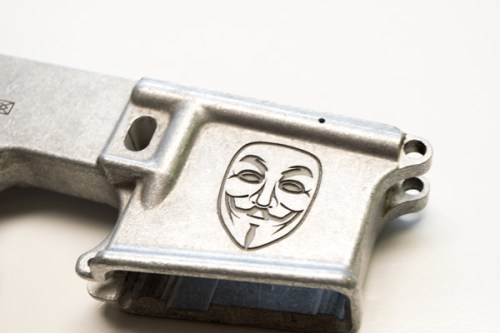 Ar15 80% Lower Guy Fawkes Mask