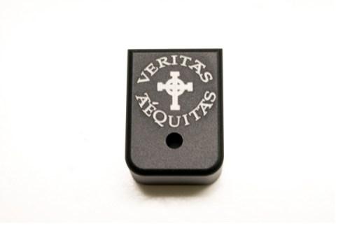 Veritas Aequias block mag base plate laser engraved.