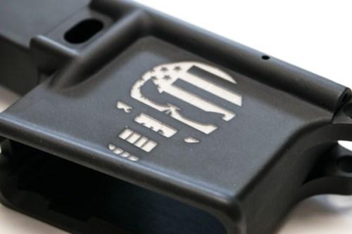 AR15 custom Engraved Punisher lower