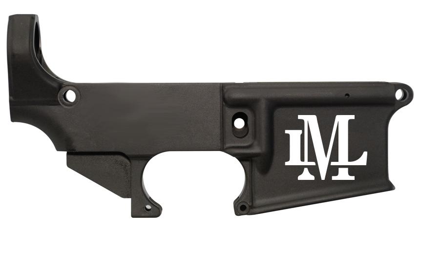 custom laser engraved Monogram lower receiver 80%