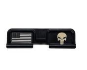 Punisher / US Flag Custom Engraved Dust Cover AR15