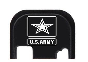 Army Engraved Glock Slide End Plate