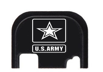 Army Engraved Glock Slide End Plate