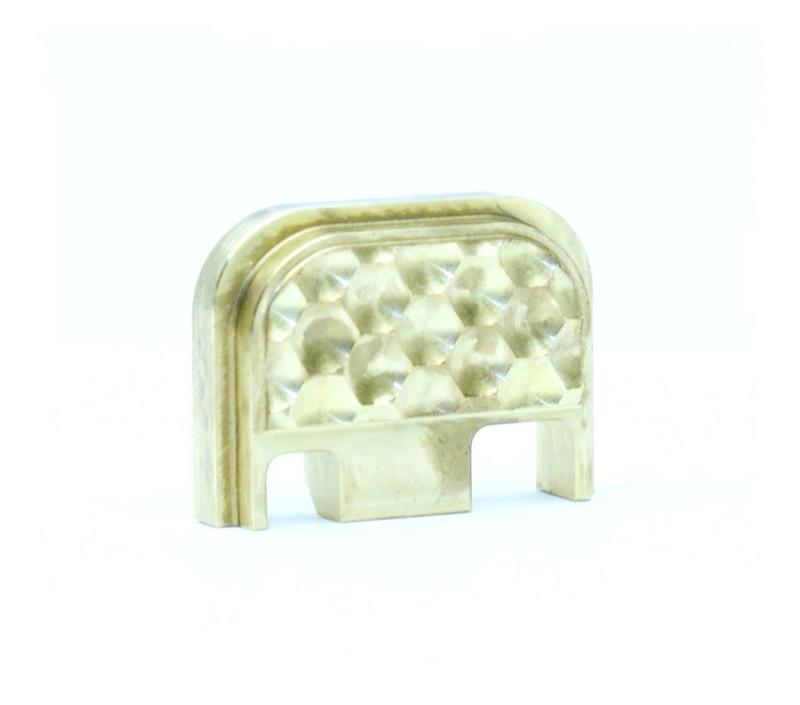 Brass glock slide cover plate