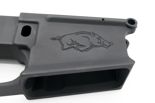 DPMS 80% Razorback AR10 Lower custom laser engraved