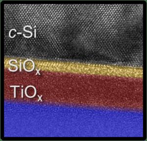 ALD TiOx electron-selective solar cell contact