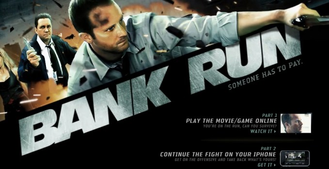 Bank Run site - home of the iPhone App and Interactive Movie