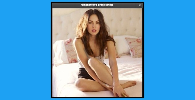 Megan Fox Twitter Photo