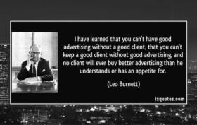 Leo Burnett on clients