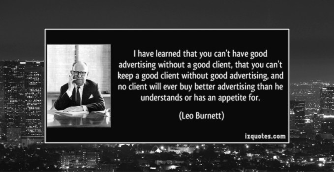 Leo Burnett on clients