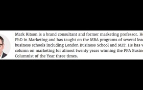 Mark Ritson in MarketingWeek