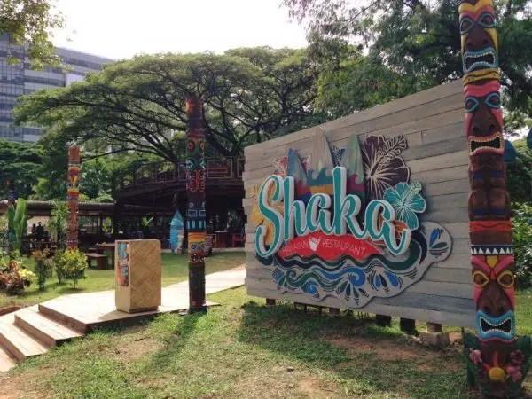 Shaka Hawaiian Restaurant During Day