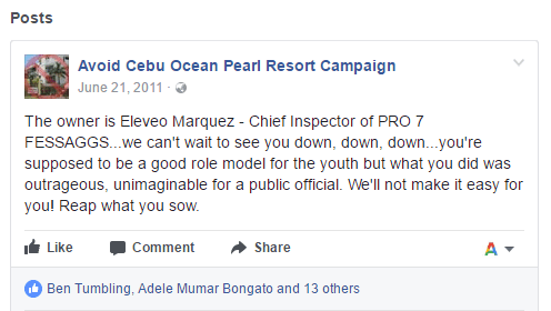 Ocean Pearl Campaign Online Against Eleveo Marquez