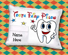 personalized tooth fairy pillow for