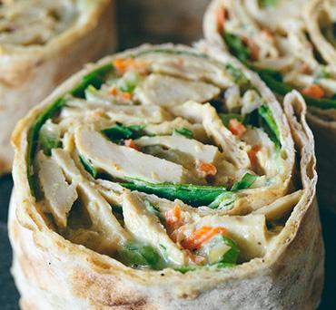 Vegan Chick'n Salad Lavash Wrap