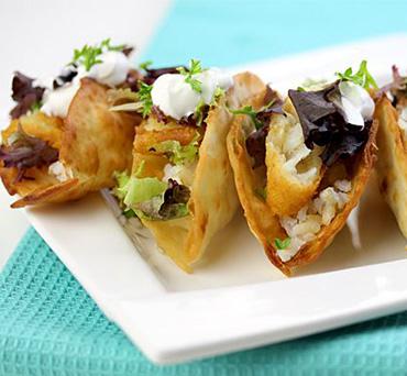 Crispy Fried Lavash Tacos