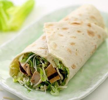 Caesar Salad Lavash Wrap