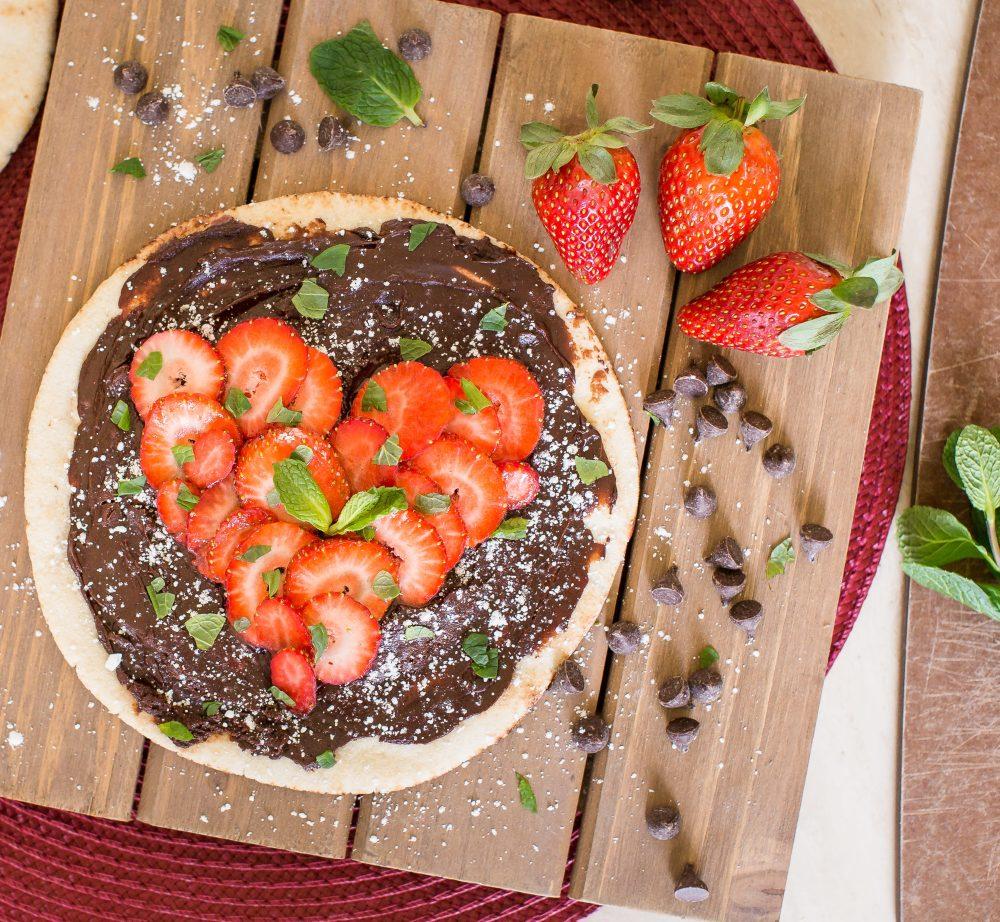 Chocolate and Strawberry Pita