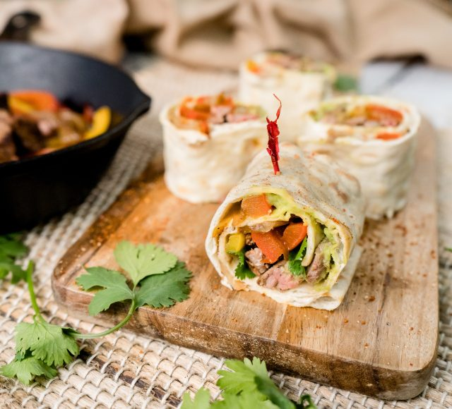 Steak Fajita Lavash Pinwheels