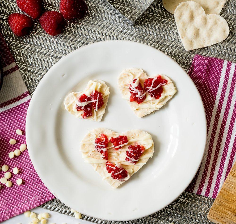 Chocolate Raspberry Lavash Hearts