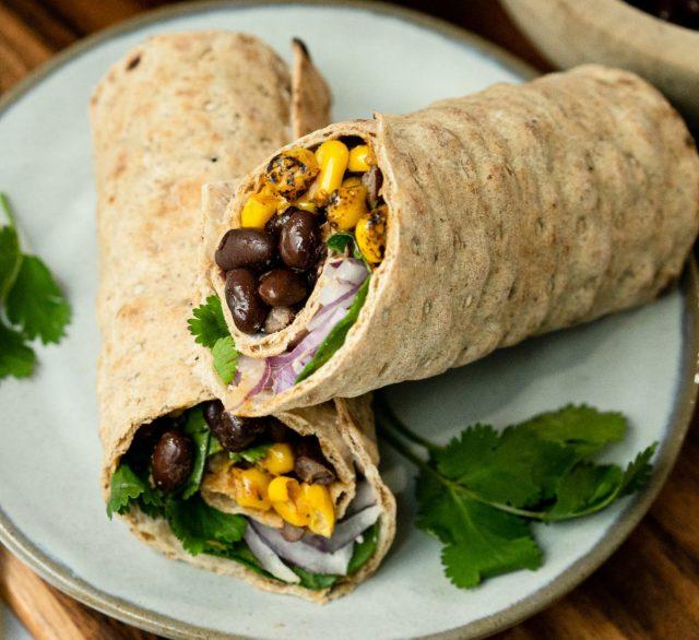 Corn & Bean Lavash Wrap