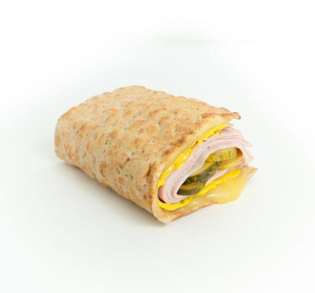 Mini Lavash Ham & Cheese Foldover