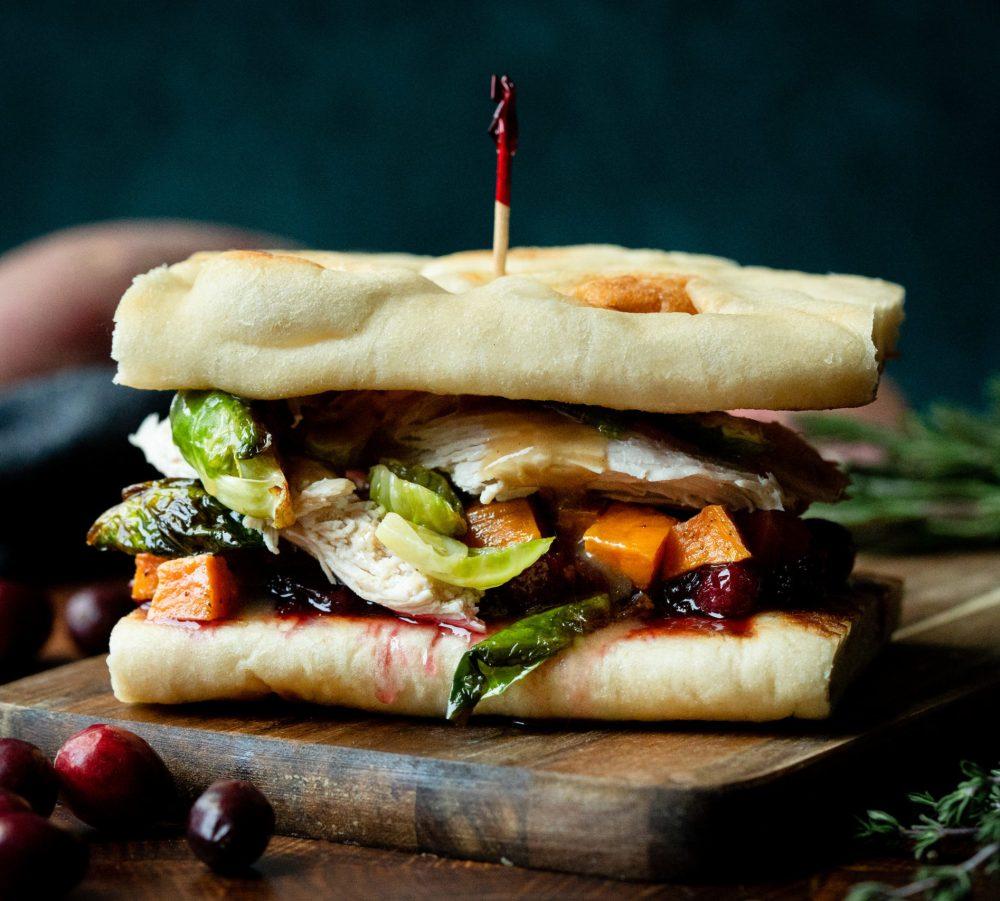 Thanksgiving Naan Sandwich