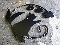 猫+すずらん妻飾り