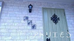 303:猫玄関飾り③設置写真