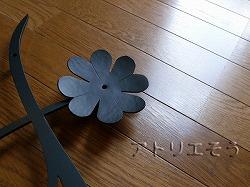 イニシャルTY+クローバー妻飾り。ロートアイアン風錆に強いアルミ製妻飾り。